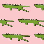 gators on pink
