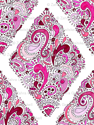 Pink   Diamond Pattern