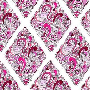 Pink Zentangle Diamond Pattern