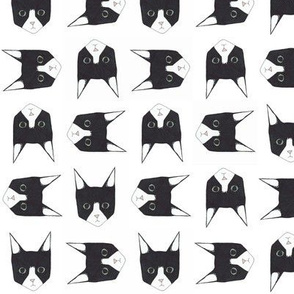 Black and White Cat Face Pattern
