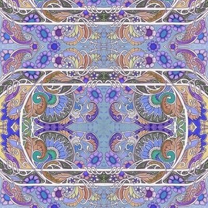 Swirly Purple Meets Circle
