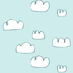 clouds teal/bright pale blue