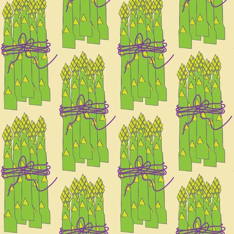 asparagus-bunch-on-cream fabric by lilcubby on Spoonflower - custom fabric