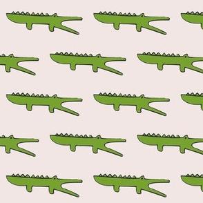 gators on blush pink