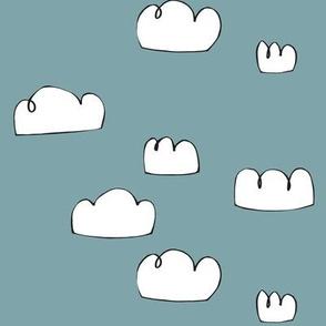 clouds pool blue