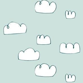 clouds teal/pale grey blue