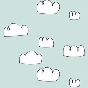 clouds pale grey blue