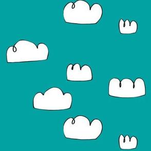 clouds aqua