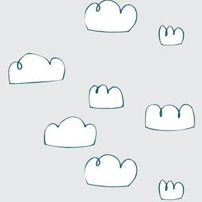 clouds teal/pale grey mist