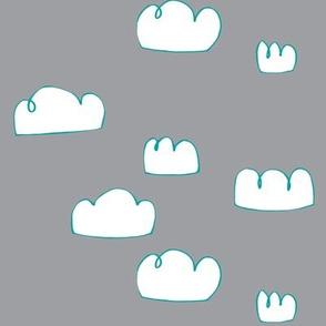 clouds aqua/grey