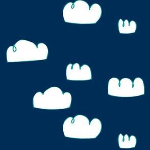 clouds aqua/nautical blue