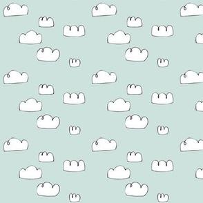 clouds mini pale grey blue