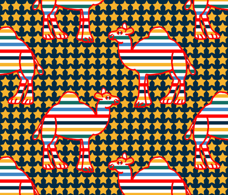 Circus Camels  2 fabric by anniedeb on Spoonflower - custom fabric