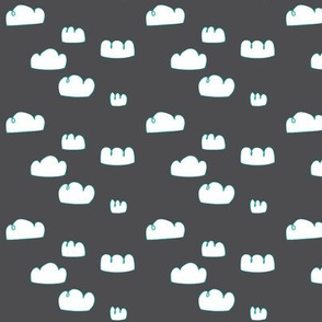 clouds mini Aqua/charcoal grey