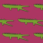gators on fuschia pink