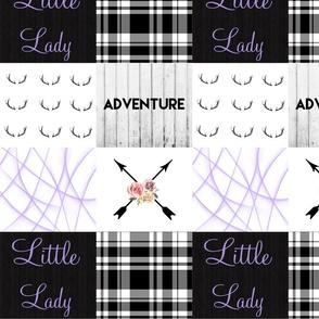 Purple little lady boho arrow wholecloth