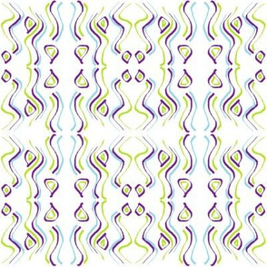 Iris - purple and green