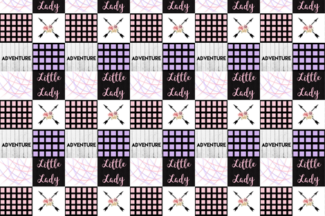 Pink and purple little lady color block wholecloth fabric by moonsheets on Spoonflower - custom fabric