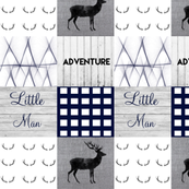 Little man navy charcoal wholecloth