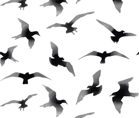 flyingbirdpattern fabric by amy_hadden on Spoonflower - custom fabric