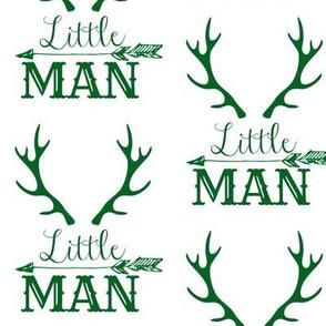 Little Man Arrow & Horns Green