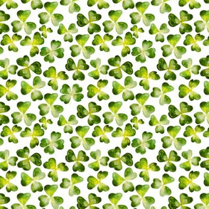 Watercolor clovers pattern