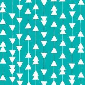 Arrowhead - Geometric Aqua
