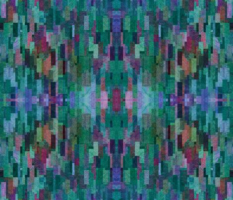 City Sky Line Abstract - Summer Garden fabric by ann~marie on Spoonflower - custom fabric