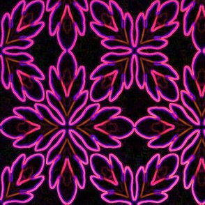 Neon_Bordered_Floral_Magenta_on_Black_Lg