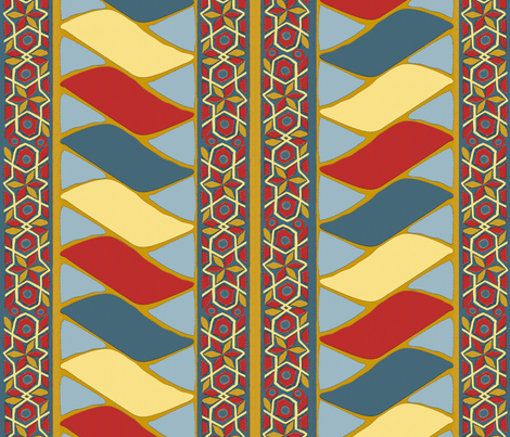 Egyptian Tent Ridge fabric by wanderingaloud on Spoonflower - custom fabric