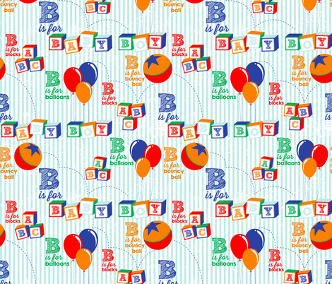 Baby Boy Alphabet fabric by xoxotique on Spoonflower - custom fabric