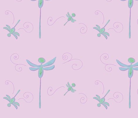 Dragonfly on Pink fabric by k__h__alexandra on Spoonflower - custom fabric