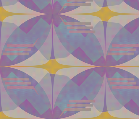 Check Three (Blue) fabric by david_kent_collections on Spoonflower - custom fabric