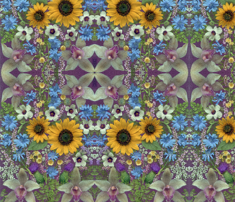 KRLGFPSpongedWildflowers fabric by karenspix on Spoonflower - custom fabric