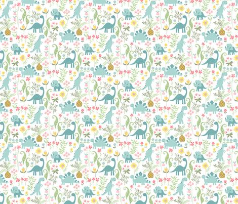 dino garden 7 fabric by laura_may_designs on Spoonflower - custom fabric