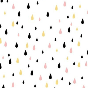 Rain drops - Gold Blush Black
