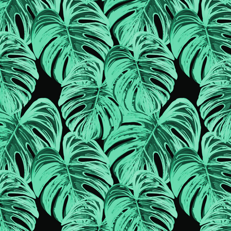 big monstera 1 fabric by stofftoy on Spoonflower - custom fabric