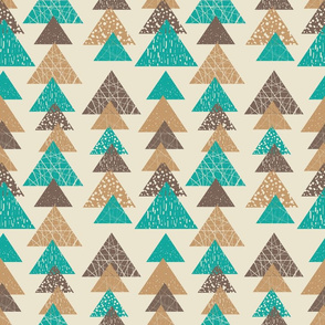 brown and turquoise triangles