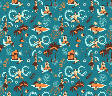 Hawaiian friday night fabric by camcreative on Spoonflower - custom fabric