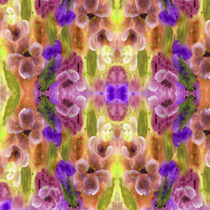 Floral_Diamonds 1_Purple_Yellow