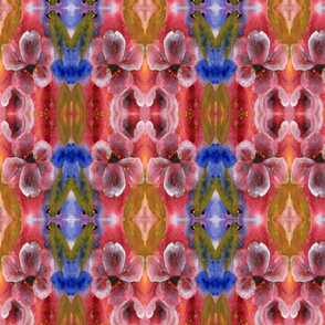 Floral_Diamonds 3_Red_Blue