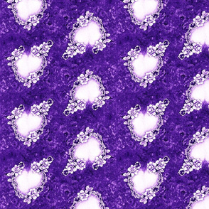 Victorian Wedding hearts purple