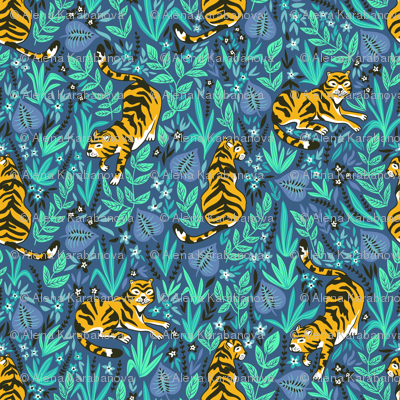 Cute tigers in the jungle