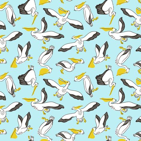 Pelicans fabric by alenkakarabanova on Spoonflower - custom fabric