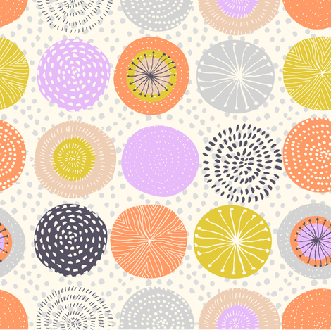 Colored circles fabric by alenkakarabanova on Spoonflower - custom fabric