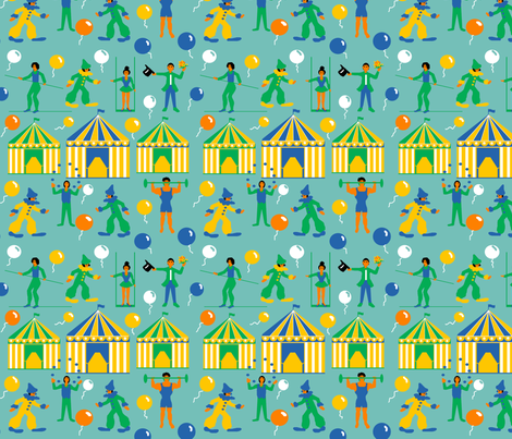 circus_performers_4 fabric by leroyj on Spoonflower - custom fabric