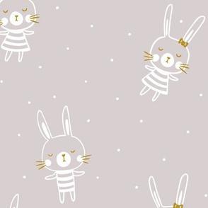 Bunnies in dots
