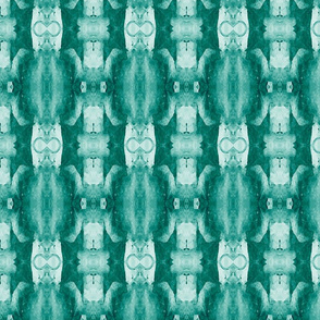 Organic Geometry Pattern_6b_teal_blue