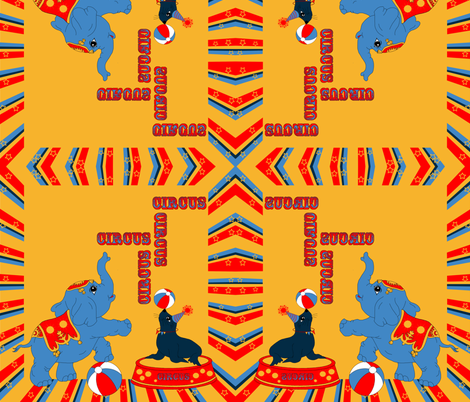 Retro_Circus_Limited_Color_Palette_Operation___Shower fabric by snarets on Spoonflower - custom fabric