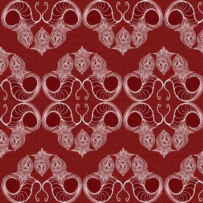Line_Drawing_Filigree_Motif_1_Brocade_All_Red